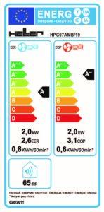 HPC07AMB/19 energiacímke